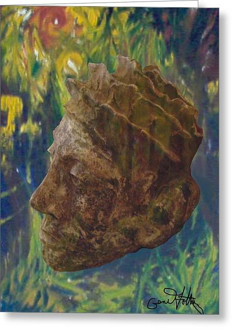 Costa Sculptures Greeting Cards - Rainforest King Greeting Card by Eugene Foltuz