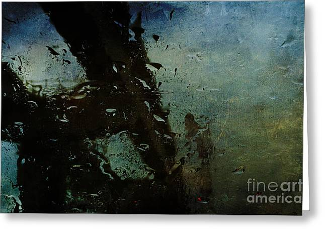 Yield Greeting Cards - Rainful Abstract Greeting Card by Terry Rowe