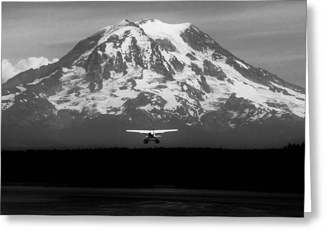 Seaplane Greeting Cards - Rainier Rendezvous Greeting Card by Benjamin Yeager