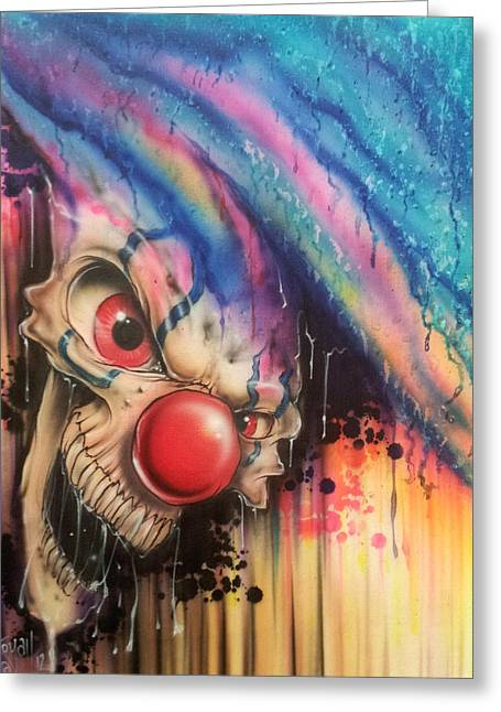Evil Greeting Cards - Raining Fear Greeting Card by Mike Royal