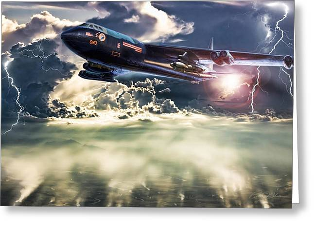 B-52 Greeting Cards - Rainmaker Greeting Card by Peter Chilelli