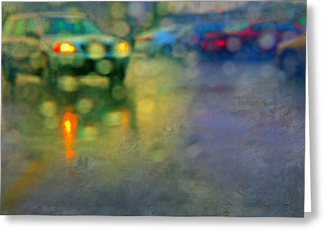 Abstract Rain Photographs Greeting Cards - Rainn in Rye Greeting Card by Diana Angstadt