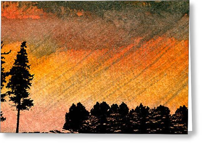 Gloaming Greeting Cards - Rains Greeting Card by R Kyllo