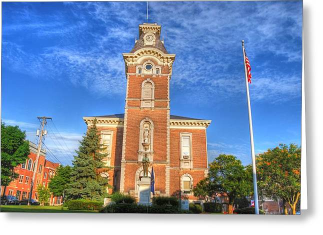 Courthouse Greeting Cards - Raintree County Courthouse - Independence Day Greeting Card by Mark Orr