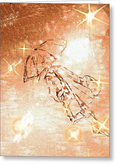Enhanced Pastels Greeting Cards - Rainwalker Greeting Card by Desline Vitto