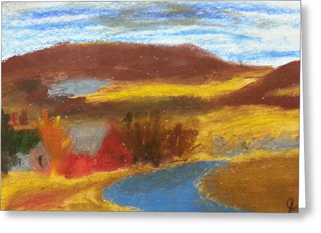 Mountain Valley Pastels Greeting Cards - Rainy Creek Greeting Card by Steve Jorde