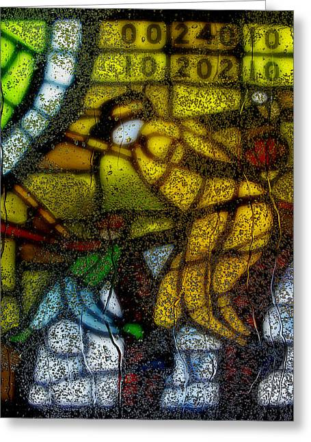 Glasswork Greeting Cards - Rainy Day 1 Greeting Card by Jack Zulli