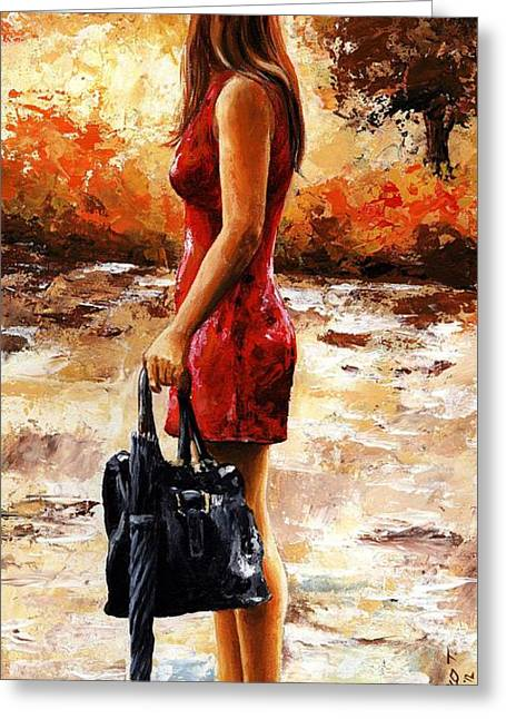 Umbrella Greeting Cards - Rainy day - After the Rain Greeting Card by Emerico Imre Toth
