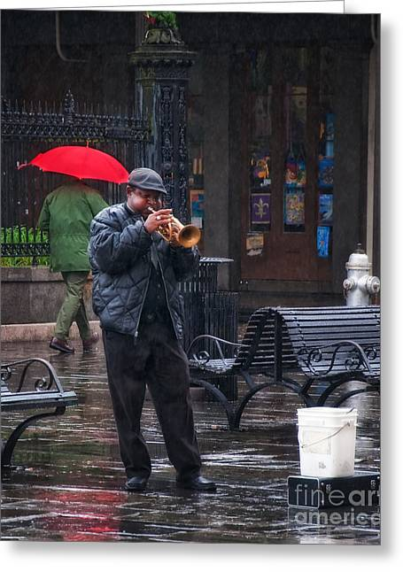 Print Photographs Greeting Cards - Rainy Day Blues New Orleans Greeting Card by Kathleen K Parker