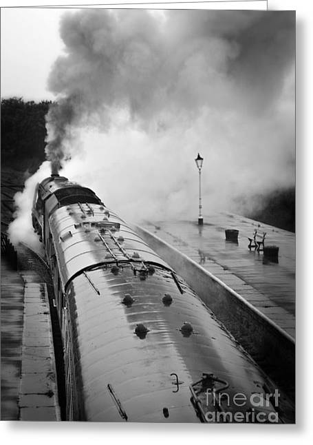 Duchess Greeting Cards - Rainy Day Departure Greeting Card by David Birchall