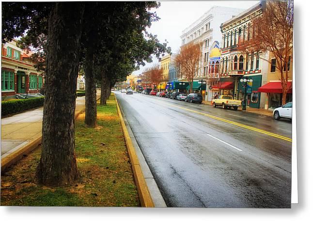 Arkansas Greeting Cards - Rainy Day in Hot Springs Arkansas Greeting Card by Mountain Dreams