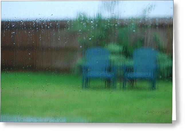 Lawn Chair Digital Greeting Cards - Rainy Day In Richmond Greeting Card by Paulette B Wright