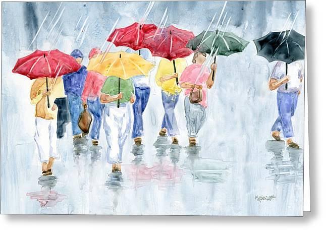 Rainy Day In Rome Greeting Card by Marsha Elliott