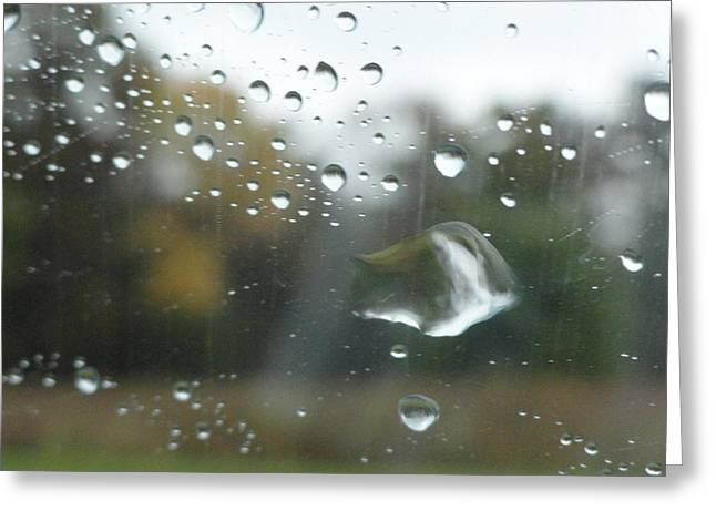Raining Pyrography Greeting Cards - Rainy Day Greeting Card by Jennifer Kirkendall