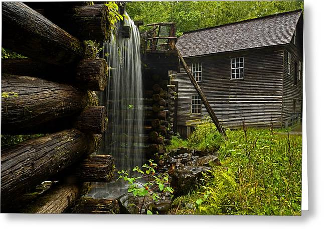 Grist Mill Greeting Cards - Rainy Day Mingus Mill Greeting Card by Eric Albright