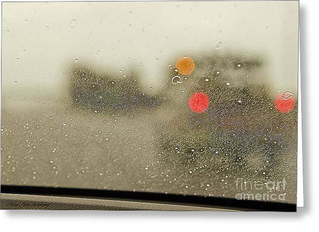 Storm Prints Digital Greeting Cards - Rainy Day Perspective Greeting Card by MaryJane Armstrong