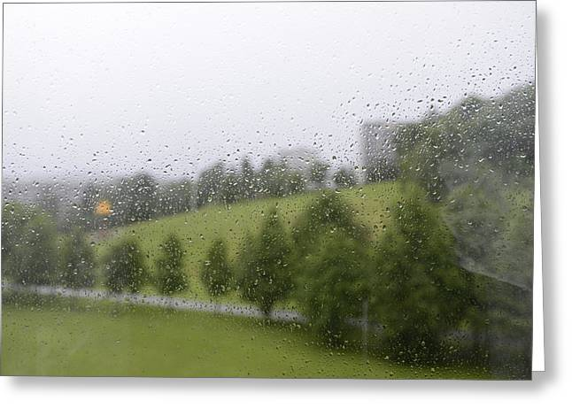 Abstract Nature Greeting Cards - Rainy Day Romance 1 Greeting Card by Andre Theophane SITCHET-KANDA