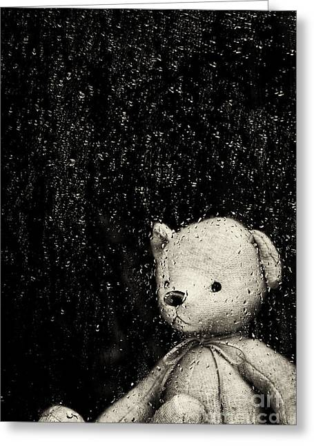 Rainy Days Greeting Card by Tim Gainey