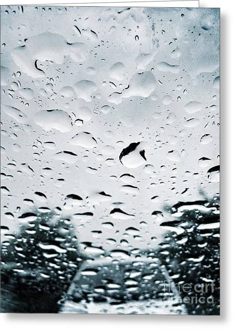 Windshield Greeting Cards - Rainy Greeting Card by HD Connelly