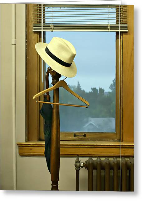 Coat Hanger Greeting Cards - Rainy Morning Greeting Card by Nikolyn McDonald