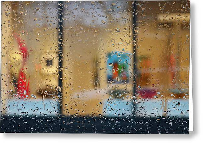 Vancouver Greeting Cards - Rainy On Opening Night Greeting Card by Jerry Cordeiro