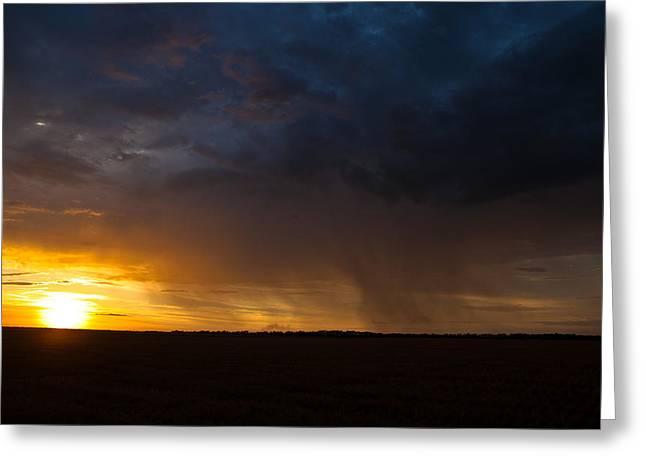 Rainy Sunset  Greeting Card by Brandon  Ivey