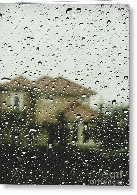 Florida House Greeting Cards - Rainy Tropics Greeting Card by Margie Hurwich