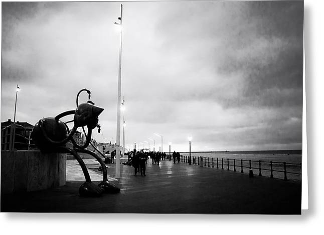 Scheveningen Greeting Cards - Rainy Walk on the Pier Greeting Card by Mountain Dreams