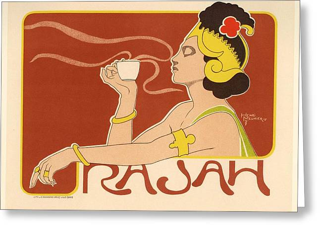 Belle Epoque Digital Greeting Cards - Rajah Greeting Card by Gianfranco Weiss