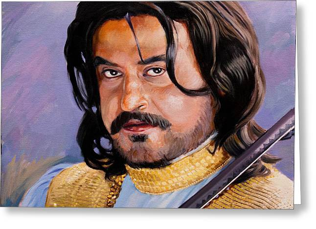 Rajani Kanth portrait Greeting Card by Dominique Amendola