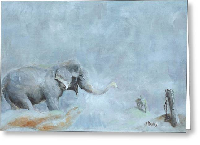 Raju's Celebration Greeting Card by Ann Radley