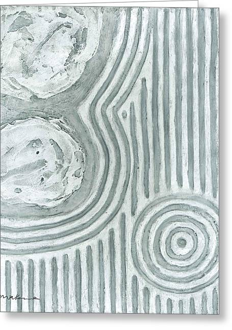 Sand Patterns Greeting Cards - Raked Zen Whirlpool Greeting Card by Carrie MaKenna