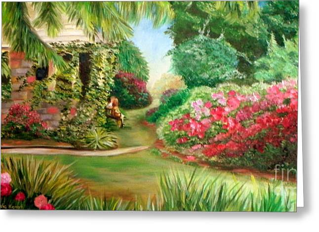 Sofa Size Greeting Cards - Rose Garden Greeting Card by Shelia Kempf