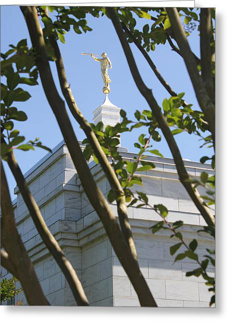 Raleigh Nc Lds Temple Greeting Card by Nathanael Verrill