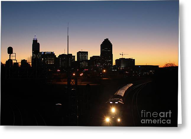 Urban Images Greeting Cards - Raleigh Westbound Train at Dawn III Greeting Card by Robert Yaeger