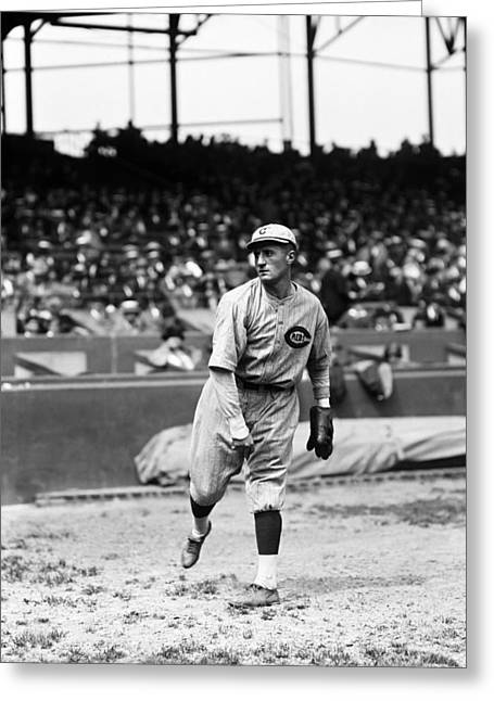 Third Baseman Greeting Cards - Ralph A. Babe Pinelli Greeting Card by Retro Images Archive