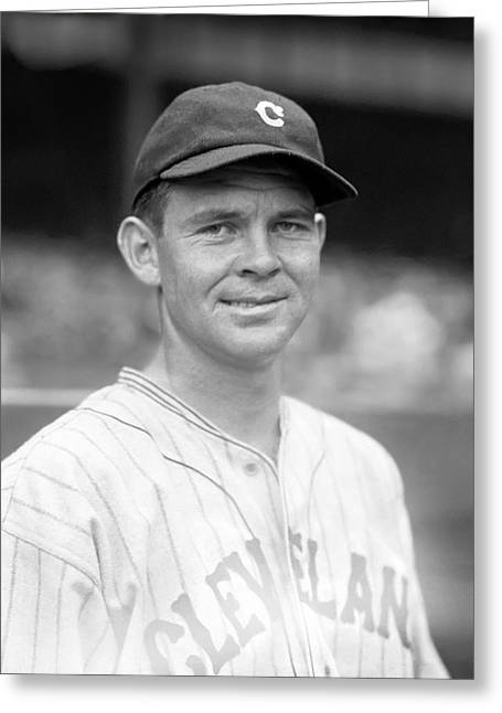 American League Photographs Greeting Cards - Ralph L. Winegarner Greeting Card by Retro Images Archive
