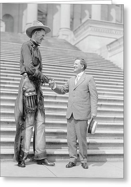 Ralph Madson And Us Senator Greeting Card by Library Of Congress