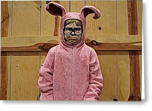 Pajamas Greeting Cards - Ralphie of a Christmas Story Greeting Card by Wendy Gertz