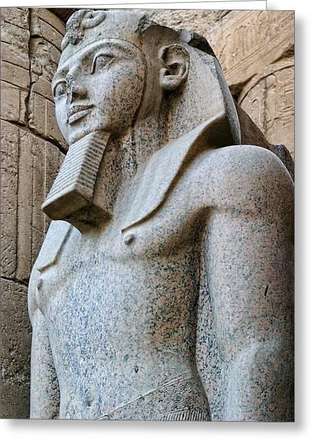 Pharaoh Greeting Cards - Ramases II Greeting Card by Linda Phelps