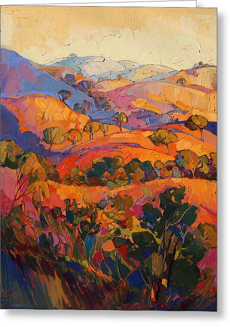 Paso Robles Greeting Cards - Rambling Pastels Greeting Card by Erin Hanson