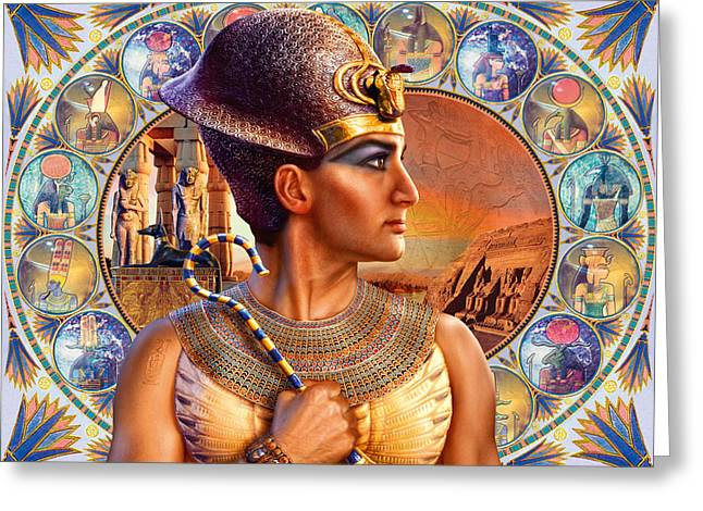 Pharaoh Photographs Greeting Cards - Rameses II Greeting Card by Andrew Farley