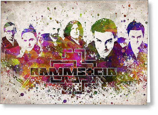 Famous Band Greeting Cards - Rammstein in Color Greeting Card by Aged Pixel