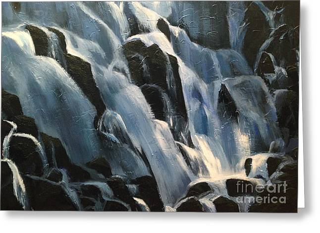 Water Flowing Greeting Cards - Ramona Falls Greeting Card by Breanna Moran