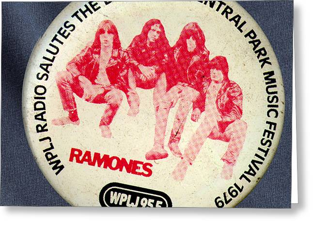 Music Cds Greeting Cards - Ramones 79 Greeting Card by Del Gaizo