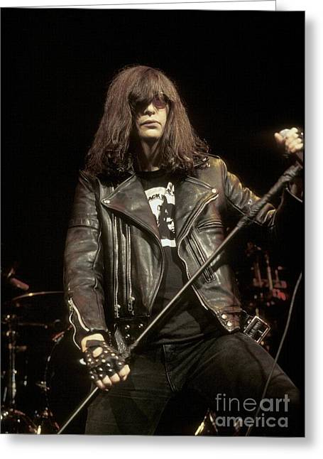Ramones Greeting Cards - Ramones - Joey Ramone Greeting Card by Front Row  Photographs