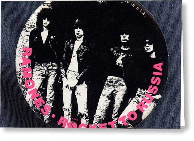 Music Cds Greeting Cards - Ramones Rocket to Russia Greeting Card by Del Gaizo