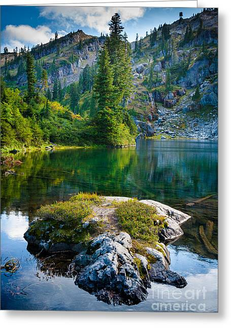 Deciduous Greeting Cards - Ramparts Lake Greeting Card by Inge Johnsson