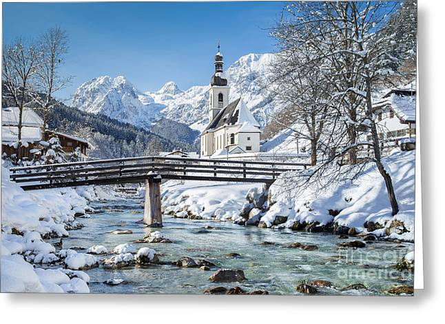 Ramsau In Winter Greeting Card by JR Photography