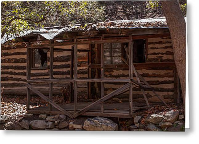 Tin Roof Greeting Cards - Ramsey Canyon Log Cabin 1 Greeting Card by Al Andersen